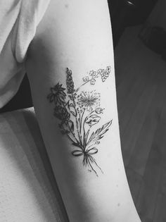 My Wildflower tattoo