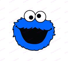 Cookie Monster Drawing, Cookie Monster Party, Monster Face, Cookie Monster Shirt, Felt Play Mat, Sesame Street Cookies, Silhouette Cameo Projects, Busy Book, Easy Drawings