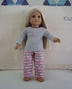 """Easy pajamas for American Girl Doll (18"""", 48 cm) - free patterns.:"""