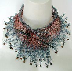 wire crochet  jewelry | Crochet Wire Necklace the Elemental by ... | Jewelry Design Ideas