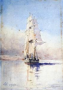 Early 20th Century watercolour of a ship under sail Sold