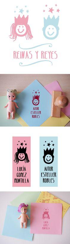 Reinas y Reyes Sellos personalizados para niños. Custom Stamp for kids