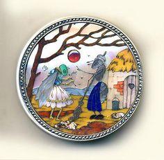 Button--Rare Unique 18th C. Inlay Silver & Marcasite Fable of Ant & Grasshopper in Antiques | eBay
