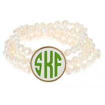 Freshwater Pearl Monogram Bracelet {Triple or Single Letter}