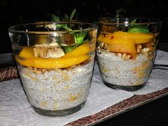 Chia puding Chia Puding, Light Side, Healthy, Kitchen, Cooking, Kitchens, Health, Cuisine, Cucina