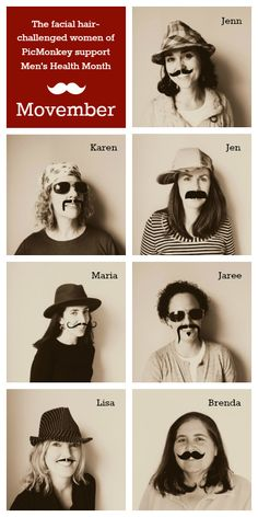 Don't despair if you can't grow facial hair; do so in your photos!  @picmonkeyapp photo editing to support @movember #Movember !