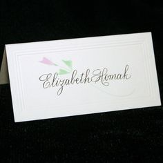 Place Card Wedding Calligraphy by Hand for your Wedding or Event.