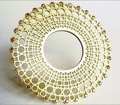 Brooch | Sarah Strafford.  18ct yellow gold, cognac diamonds
