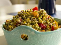Charred Corn Salad with Basil Vinaigrette Recipe by Kelsey Nixon via @Cooking Channel