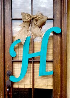 Initial Door Hanger by OakOriginals on Etsy, $37.99