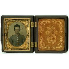 [ThomasS.Snapp]tintype.  Tintypeof ayounguniformed soldier. This isbelievedto be Pvt.ThomasS.Snapp,Co.H,5thTenn.(McKenzie's)Cav.Regt., CSA.Snappwasbornin GreeneCounty,Tenn., in1843. He wasmarriedtoSusannahJosephineStephens. Snappdiedon;December10,1916, and isburiedinZionPresbyterianChurchCemeteryinGreeneville,Tenn. The imagecouldbe apictureof hisbrother-in-law,IsaacD.Stephens.(Seechat002forStephens.)