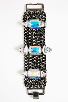 AB crystal chain bracelet