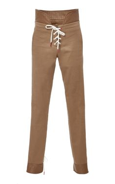 Laced Cotton Legging by MONSE Now Available on Moda Operandi
