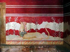 Opinicus sans ailes Knossos, Crète.