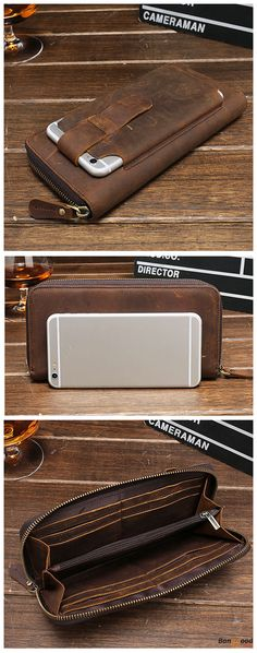 #phonecase25 + Free Shipping. Men Multi-fuction Vintage Genuine Leather Wallet Phone Case High Capacity Card Holder Coin Purse. Material: Cowhide. Trust Me, You Gonna Love It! #phonecase