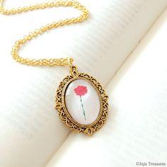 Red Carnation Necklace - Alpha Chi Omega