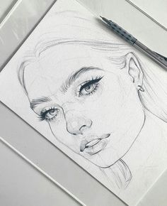 Amazing sketch piece, simple and delicate pencil lines... I simply love this drawing because it's relatively easy to sketch and very satisfying, brilliant! ___ #drawingfaces #pencildrawings #pencilsketch #facesketch Pencil Portrait, Pencil Drawings, Tv, Portraits, Sketches, Face, Croquis, Tvs, Draw