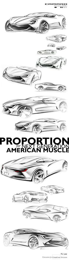 Camaro : Generation 6 by Namsuk Lee, via Behance Cool Sketches, Drawing Sketches, Sketching, Industrial Design Sketch, Car Design Sketch, Hand Sketch, Car Drawings, Transportation Design, Automotive Design