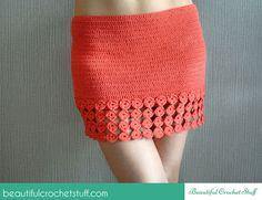 Crochet Skirt By Jane - Free Crochet Pattern - (beautifulcrochetstuff):  except make it longer!