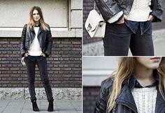 Sabrina featuring Diesel Jacket www.diesel.com/female #SuccessfullyStyled #StreetStyle