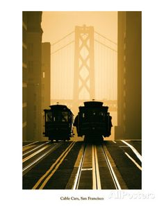 Cable Cars, San Francisco Art by Mitchell Funk at AllPosters.com