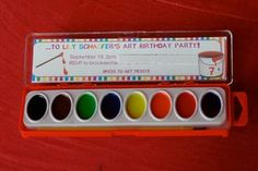 Painting party invitation