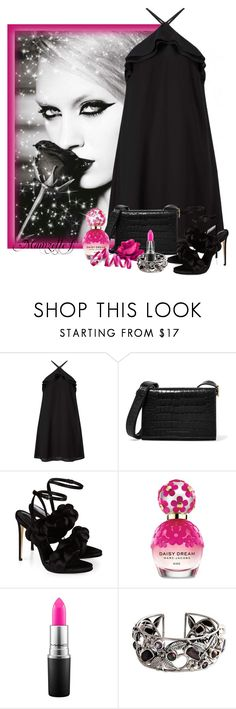 """""""La rose noire"""" by mamzelle-f ❤ liked on Polyvore featuring JULIANA, Miss Selfridge, Victoria Beckham, Marco de Vincenzo, Marc Jacobs, MAC Cosmetics and NOVICA"""