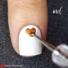 These nail designs are so easy and adorable to do!❤️ Credits: Kelli Marissa Best Picture For beauty Girls Nail Designs, Nail Art Designs Videos, Nail Art Videos, Short Nail Designs, Fall Nail Designs, Simple Nail Designs, Crazy Nail Art, New Nail Art, Nail Art Courses