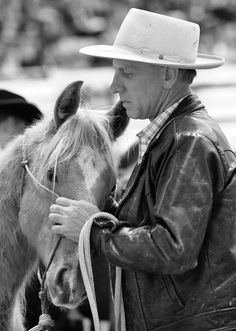 Buck Brannaman- i WISH i could go to one of his clinic's.
