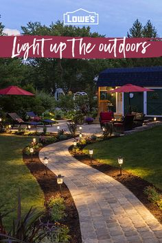 Enhance your outdoor space with path lights, pavers and patio furniture. Get everything you need to make the most of the outdoors at Lowe's.