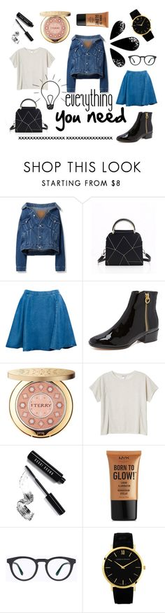 """""""everything..."""" by maggiec003 ❤ liked on Polyvore featuring Balenciaga, Pull&Bear, Joie, By Terry, Monki, Bobbi Brown Cosmetics, NYX, Mykita, Larsson & Jennings and casual"""