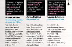 Floral Pants: How 3 Editors Wear It... #2; shopping details ~ April Lucky magazine.