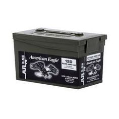 Ammo 5.56mm NATO Federal XM193 55 Grain FMJ Boat Tail 600 Rounds Total Mini Polymer Ammo Cans 3240 fps XM193LPC120