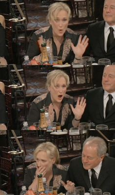 Her reaction to winning Best Actress at the 2012 Golden Globes | 53 Reasons Why Meryl Streep Is The Best