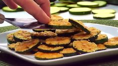 slices work pretty perfectly. And since I like to put a generous mound of grated Parm on each round, I end up using about 1/4 cup of cheese per every medium-sized zucchini that I slice up. Zucchini Rounds, Zucchini Crisps, Zucchini Parmesan, Veg Recipes, Side Recipes, Light Recipes, Low Fat Snacks, Healthy Snacks, Keto Snacks