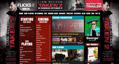 Site Skin for 20th Century Fox's latest Release Taken 2