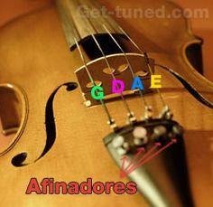 Las notas y afinadores del violin