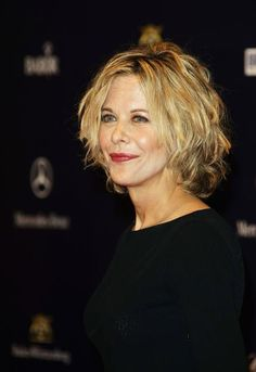 So according to typeF, the hair cut I want is a shag haircut. Who knew! This is Meg Ryan in a shag.
