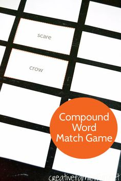 Learn all about compound words with this fun, printable Scarecrow Compound Word Match Game.