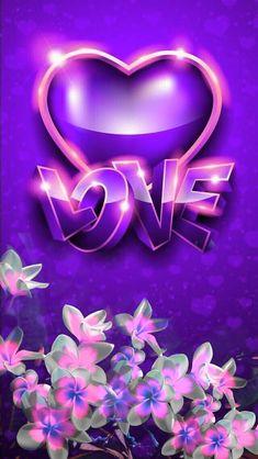 Heart Wallpaper, Purple Wallpaper, Love Wallpaper, Wallpaper Backgrounds, Beautiful Wallpaper, Hd Cool Wallpapers, Iphone Wallpapers, Cute Bedroom Ideas, Gifs