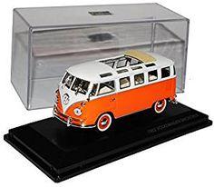 VW Volkswagen T1 Orange mit Weiss mit Faltdach Samba Bulli Bus 1950-1967 1/43 Yatming Modell  Auto (Affiliate-Link) #vanlife #Geschenkidee #Merchandise #Fan