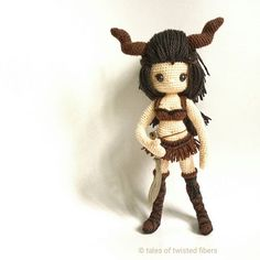 Ever had that brilliant design idea which, once executed, turns out to be not so brilliant after all? This #amigurumi is a perfect example.  Inspired by #Markhor, an endangered species of wild goat, I started working on this warrior woman. I was so engrossed in incorporating horns as a part of the design that I failed to take into account the additional weight it would create.  The result is a heavy head that the body is too slender to support. Another design bites the dust!   #crochet #c...