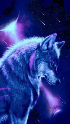 Shadow Wolf Mystical Galaxy Wolf Wallpaper