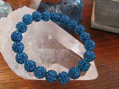 "New 8"" Dark Turquoise Shimmer Rustic Crystal Ball Shamballa Cuff Bracelet | Jewelry & Watches, Fashion Jewelry, Bracelets | eBay!"