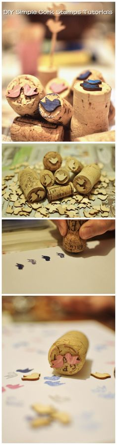 #DIY Simple #Cork #Stamps #Tutorials