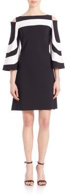 La Petite Robe di Chiara Boni Cold-Shoulder Bell-Sleeve Dress