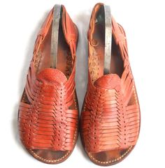 Boho Chic Shoes Woven Leather Sandal Woven by TheVilleVintage, $28.49