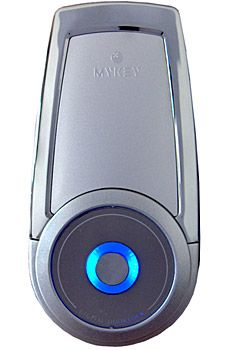 The MyKey 2300 ($300) uses Radio Frequency Identification (RFID) technology to replace your conventional door lock and metal keys. It can be installed easily on almost any doorway and unlocks with a wave of one of the six included RFID cards (or your wallet if you've got one stored in it). And since there's no keyholes to pick and because it runs off of isolated battery power, the MyKey is tons more secure than your current lock. The device also has a slide-out keypad and built-in auto-lock…