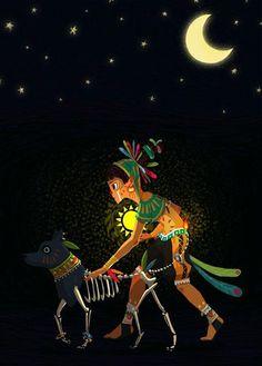 Charming illustrations by Anne-Lou Erambert Art And Illustration, Illustrations, Mexican Artwork, Mexican Folk Art, Mexican Mask, Aztec Culture, Mexico Art, Aztec Art, Wow Art