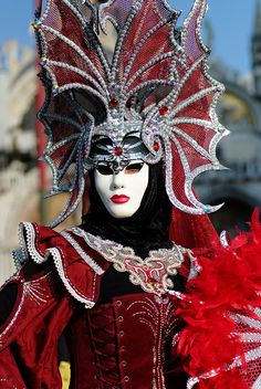 Venetian Carnival Masque. I would love to have this head piece but I'm not sure where I would wear it.